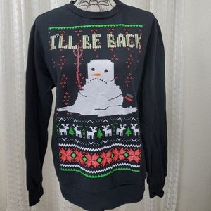 Mad Engine Ugly Christmas Sweater Melting Snowman